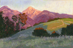 The Golden Hour - Johnson's Pasture by Rose Ash pastel artist